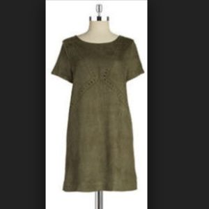 NWT Design Lab Laser Cut Faux Suede Dress